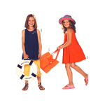 Kleit & kott 110 - 140cm / Dress & bag/ Burda 9546
