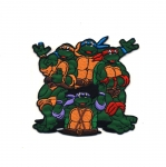 Triigitav Aplikatsioon; `Turtles` ninjakilpkonnad / Embroidered Iron-On Patch; Teenage Mutan Ninja Turtles / 9cm