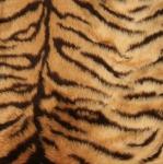 Pruunikirju tiigritriibuline kunstkarusnahk, 150cm