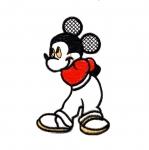 Triigitav Aplikatsioon; Miki hiir 12 x 8 cm