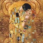 Gustav Klimt`i maaliga, trikookangas, kangakupongi mõõtmed 200cm x150cm Art.14931