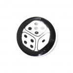 Must-valge, mustriline, kannaga nööp ø15 mm, suurus: 24L