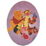 Embroidered Iron-On Patch; Winnie the Pooh, Tigger & Piglet / 10 x 8cm