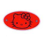 3D kleebis; Hello Kitty punasel taustal / 3D Sticker; Hello Kitty on Red Background / 10,5 x 5,5cm