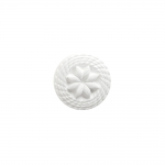 Reljeefse lillemustriga, kannaga plastiknööp, 15mm/25L
