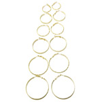 Round Loop Earring Ear Wire Pairs and Sets / 25, 30, 35, 40, 40, 45, 50mm