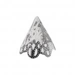 Koonusekujuline, reljeefse mustriga pärlikübar / Bead Cup / 17x19mm