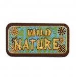 Triigitav Aplikatsioon Metsik loodus `Wild Nature` 8x4cm