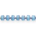 Torujas pärlmutter reljeefse mustriga 9x8mm klaashelmes