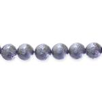 Ümar krobeline pärlmutterkattega klaashelmes 12mm