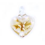 Aasaga südamekujuline riputis lillega 40x18x8mm