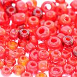 Pärlisegu Punakates toonides pärlitest 4-8,5mm, 100/50g pakk