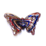Plastic Butterfly Charm / 61 x 40 x 6mm