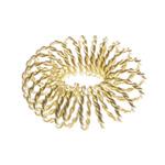 Metallist põimingdetail (õhuline rõngas) / Circular Spiral Wire Charm / 28mm