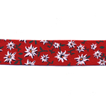 Puuvillane lilledega diagonaalkant / Half Cotton Bias Binding / 20mm