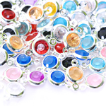 Plastic Circle Charm / 13 x 6mm