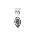 Pitsimustriga ja medaljoni kinnituskohaga ripats, 23 x 9mm