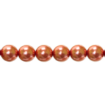 Czech Jablonex, Round Glass Pearl Beads (Imitation Pearls), 8mm