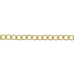 Metallkett kullatud/hõbetatud 4,1mm lai, 2m pikk