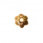 Lillekujuline, reljeefse mustriga pärlikübar / Bead Cup /8x3mm