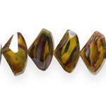 Hulknurksed lapikud klaashelmed segatud värvitoonidega 15x12x7mm