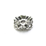 Vahedetail klaaskristallidega / Flower Jewellery Spacer with Rhinestones / 10 x 4mm