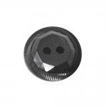 Must, reljeefse mustriga, kahe auguga nööp 21mm, 34L