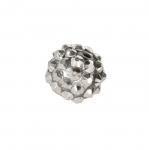 Metallist, klaaskristallidega, ümar helmes 14mm