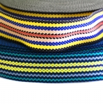 Striped Webbing strap tape, PP-tape, 5 cm