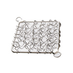 Square Spiral Wire Charm / 28mm