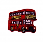 Triigitav Aplikatsioon; Kahekorruseline buss / Embroidered Iron-On Patch; Double-Decker Bus / 8 x 7cm