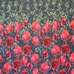 Roosidega trikotaažkangas, 200x150cm kupongina, 14960