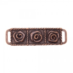 Metal triglide buckle, fashion buckle 60x20 mm, for belt width 10-12 mm