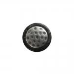 Must, metallist, reljeefse keskosaga, metallkannaga plastiknööp 16mm/26L