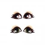 Triigitav piltaplikatsioon silmad, 2 paari, 3,2cm x 2,2cm