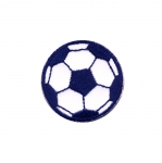 Embroidered Iron-On Patch; Football / 4cm