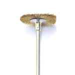 Messingist ketashari / Brass Bristle Disc Brush with Stem