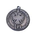 Mündi/medaljonitaoline riputis aasaga / Metal Crest Charm / 22mm