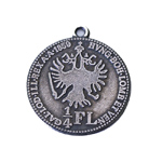 Metal Crest Charm / 22mm