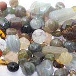Pärlisegu Rohekas-hallikas-pruunikates toonides eri suurusega  pärlitest 5-20mm, 100/50g pakk