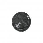 Must, reljeefse mustriga, läbikumav, kannaga plastiknööp 15mm/24L