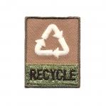 Triigitav taaskasutuseteemaline Aplikatsioon `Recycle`4,5x3,5cm