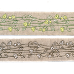 Linen-look ribbon Art.815PG/50mm