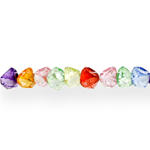 Ümmargune tahuline kristall ülalt läbistatud auguga 8x6mm