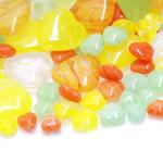 Pärlisegu Kollastes, oranžides, rohelistes toonides eri suurusega pärlitest 5-20mm, 100/50g pakk