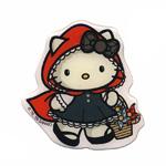 3D kleebis; Hello Kitty Punamütsike / 3D Sticker; Hello Kitty Little Red Riding Hood / 8,5 x 8,5cm