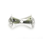 Jewellery Spacer with Rhinestones / 14 x 8mm