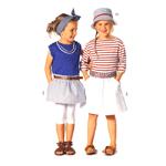 Seelik 104 - 140cm / Skirt/ Burda 9492