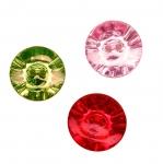 Kristallilaadne värviline, kahe auguga nööp 20mm, 32L