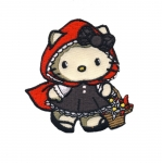 Triigitav Aplikatsioon; Hello Kitty, Little Red, Punamütsike / Embroidered Iron-On Patch; Hello Kitty 6,5x6cm
